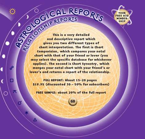 Relationshp Reports A3d Astrological Reports